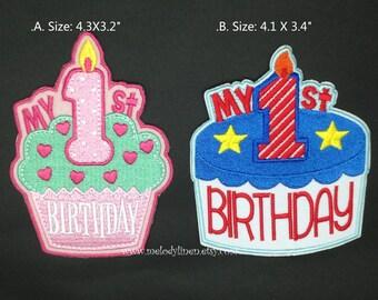 1st Birthday Patch Etsy