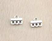 Pack of 40 Silver Tone Joining Charms. Metal Connectors For Earrings.