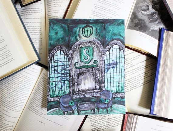 Slytherin Common Room Art Print