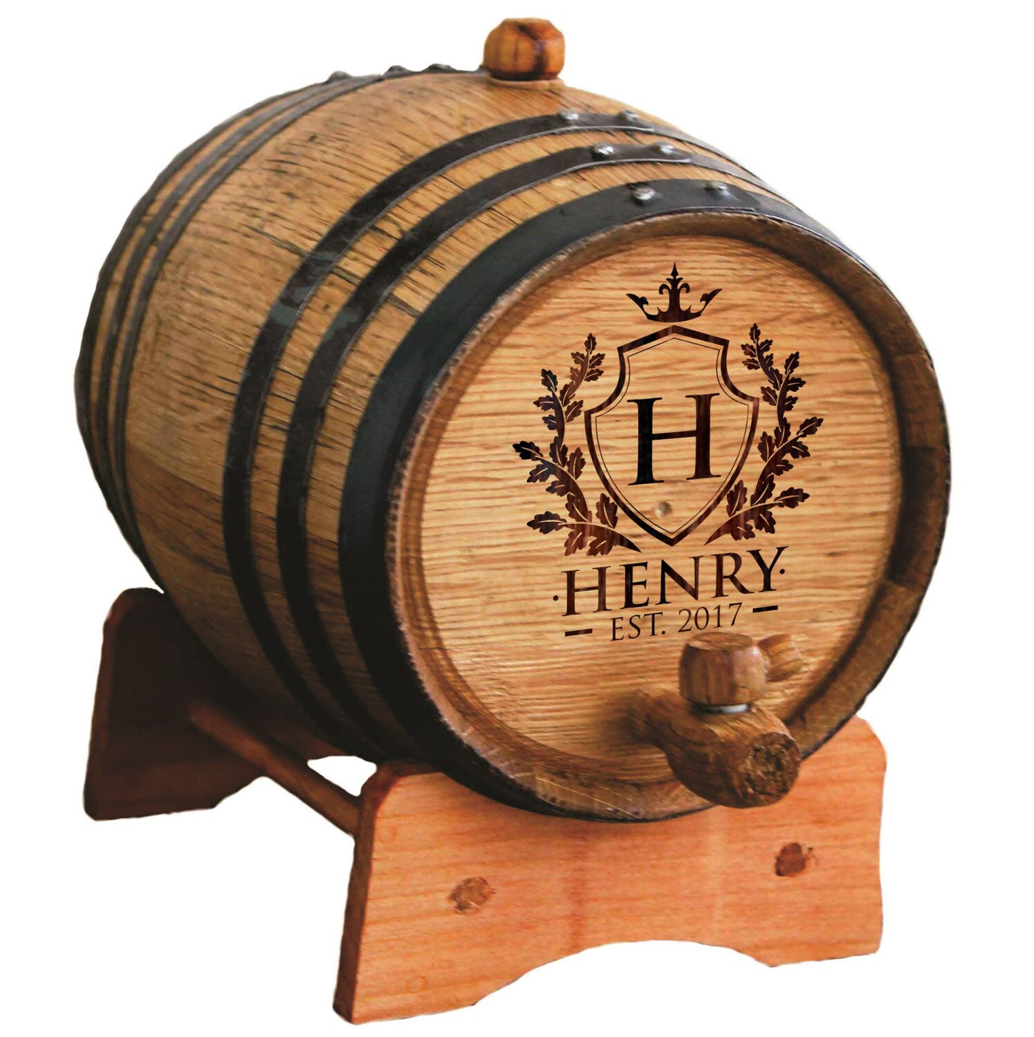Personalized Wine Barrel Bourbon Barrel Whiskey Barrel image 3