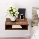 Solid Walnut Wood Floating Nightstand Floating Walnut