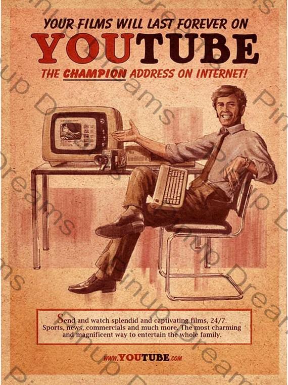 retro vintage poster art youtube verschiedene grossen