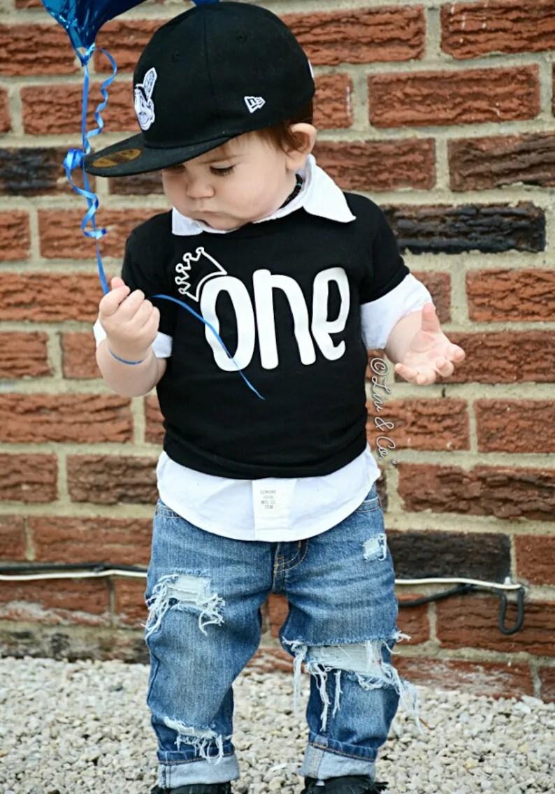 1st Birthday Boy First Birthday Shirt Boy Birthday Shirt One Etsy