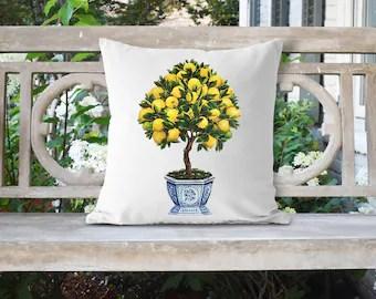 lemon pillow etsy