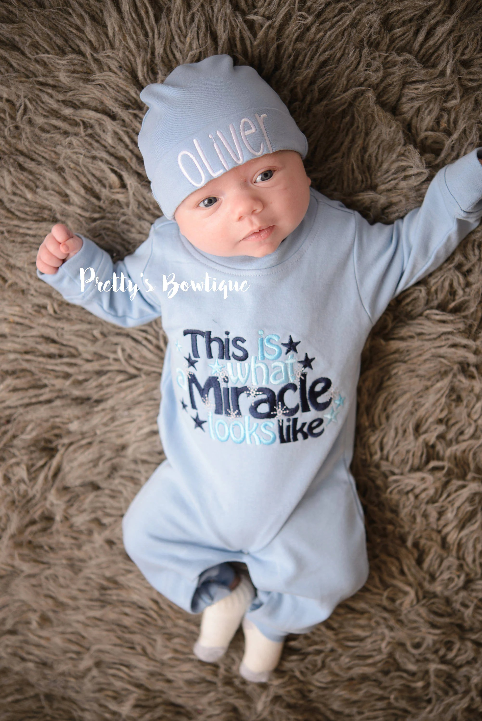 Baby Boy Outfit This Is What A Miracle Looks Like Romper