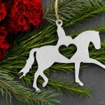 Dressage Horse Animal Metal Christmas Ornament Custom Gift Her Him Personalized Wedding Favor Barn Holiday Home Decor Equine Riding Pony