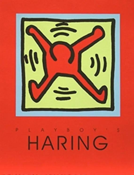 keith haring playboy poster red limitiert retail 400 kaufen verkaufen trade siehe live bei gallart