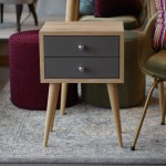 Bedside Tables With Two Drawers Mid Century Modern Furniture Nightstand Oak Furniture Scandinavian Style No 04 Fl
