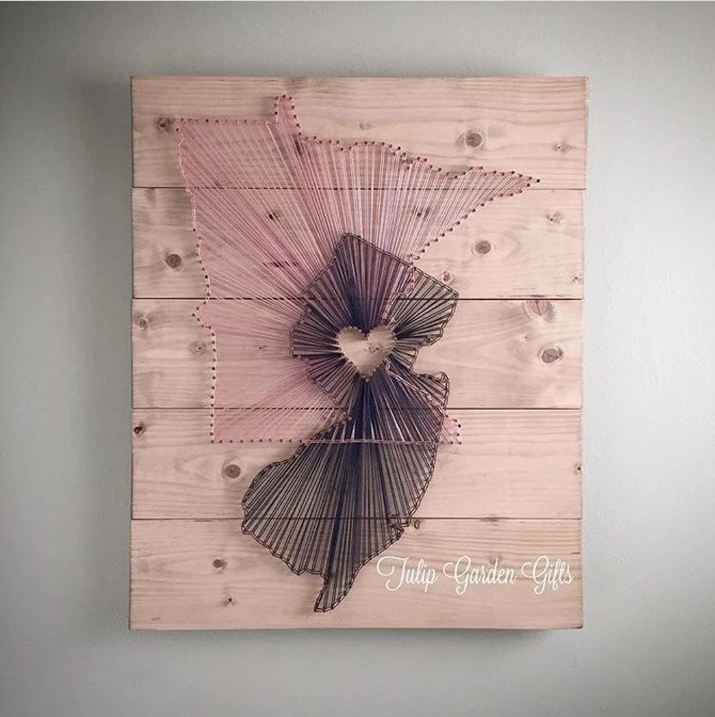 Heartstrings 2 State String Art Wall Hanging Pallet State image 8