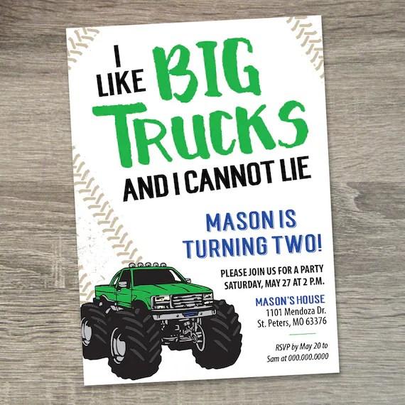 monster truck birthday invitation monster truck party invite