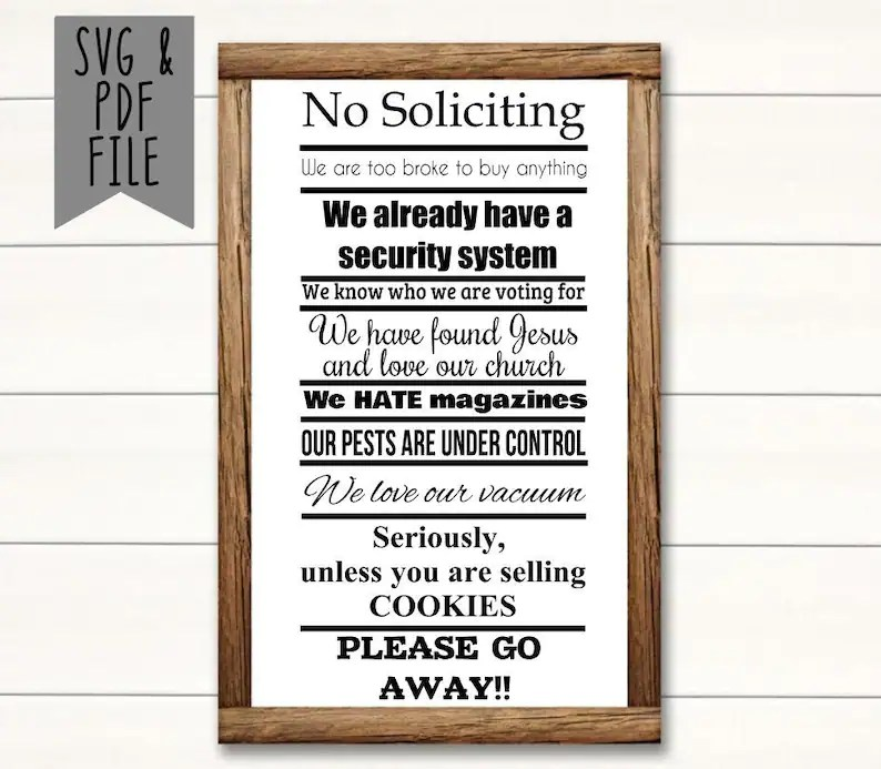 Download No Soliciting We Have Found Jesus And Love Our Church SVG ...