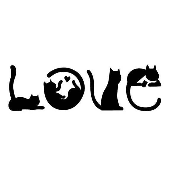 Download Cat LOVE svg Cats spelling out Love Cat svg digital | Etsy