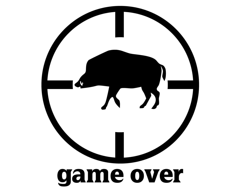 Wild Boar Hunter Decal Hog Hunting Sticker Hog Hunter Game