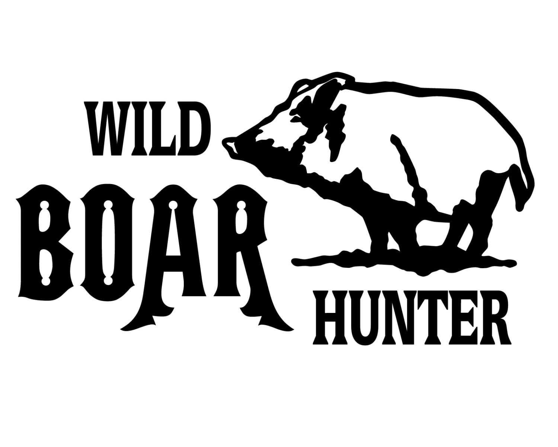Wild Boar Hunter Decal Hog Hunting Sticker Hog Hunter