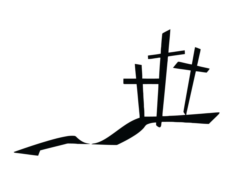 Three Crosses Decal 3 Crosses Sticker Christian 3 Cross