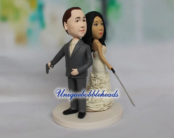 zombie wedding cake topper Bride and groom cake topper   Etsy image 0