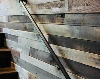 Pipe Handrail Etsy | Galvanized Pipe Stair Railing | Garden | Industrial | Metal | Used Deck Railing | Interior