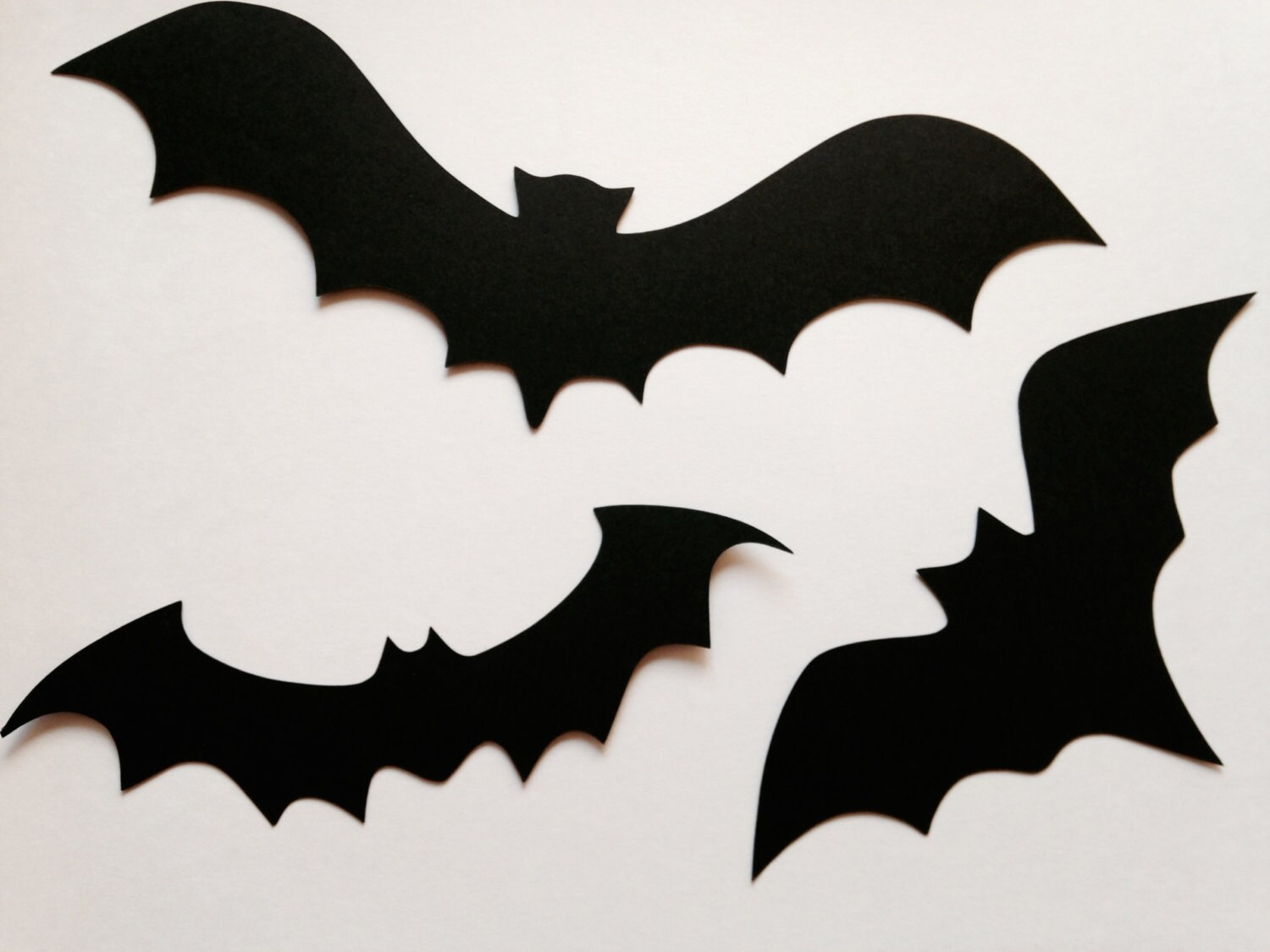 Paper Bat Cutouts 30 Pack Halloween Decor Easy Diy