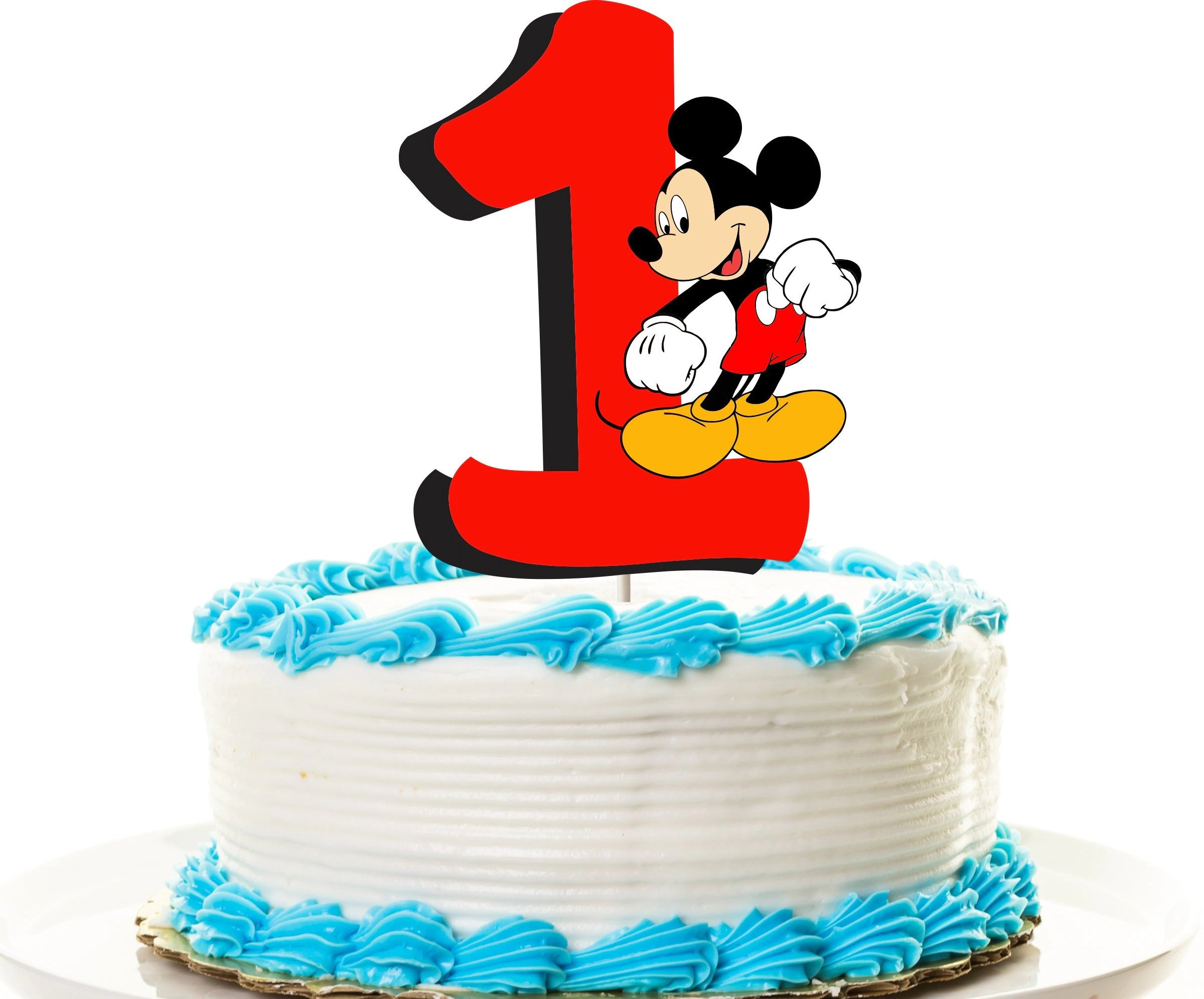 Mickey Mouse Cake Topper First Birthday Topper Or Centerpiece Etsy