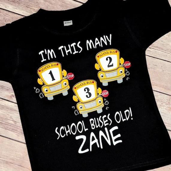 Boys Wheels On The Bus Birthday Shirt My First School Bus Party Emmerlus Designs Toddler Boy Kids Personalized Applique T Shirt Clothing Girls Femsa Com