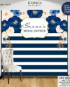 Bridal Shower Backdrop Navy And Gold Wedding Backdrop Bridal Etsy
