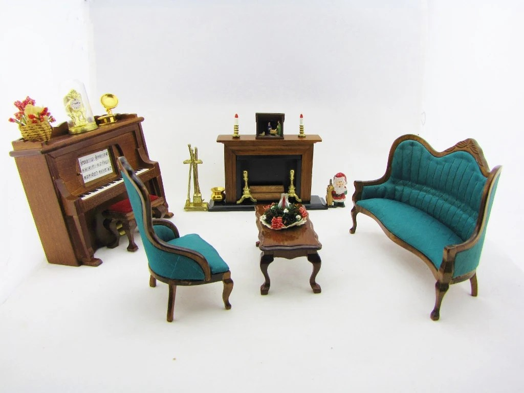 Miniature Furniture Dollhouse Living Room Vintage Victorian Tiny Miniatures Fantasy Accessories Fairy Furniture Gifts For Her