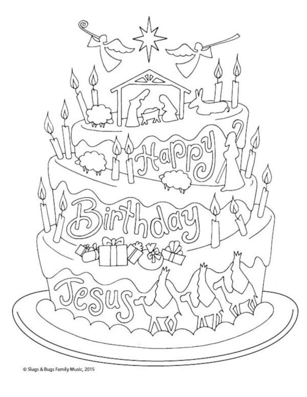 happy birthday jesus coloring page # 7