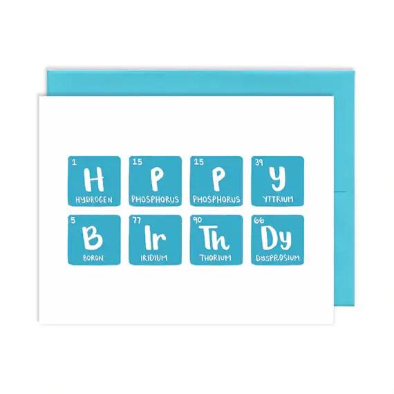 Happy Birthday Periodic Table Etsy