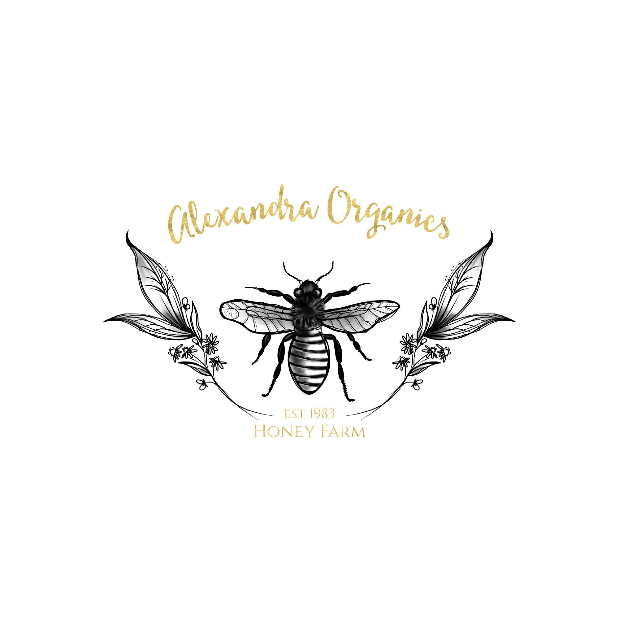 Gold Bee Logo Design Honey Bee Logo Leaf Logo Leaves Logo