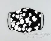 Preorder Black Seamless Flora Mask Cover ~ Bridal Wedding Double Gauze Mask ~ Groom Cotton Mask ~ Reusable Mask Cover ~ Washable Mask Cover