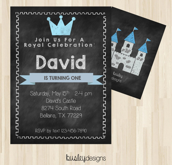 prince birthday prince birthday invitation prince invitation prince theme invitation royal birthday invitation boys birthday invitation