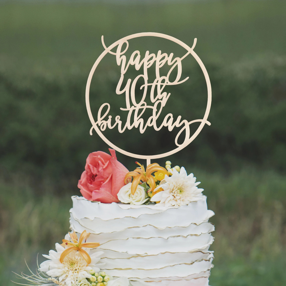Custom Birthday 40th Cake Topper