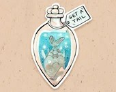 VINYL STICKER - Get a tail potion, from Magikitty potion shop