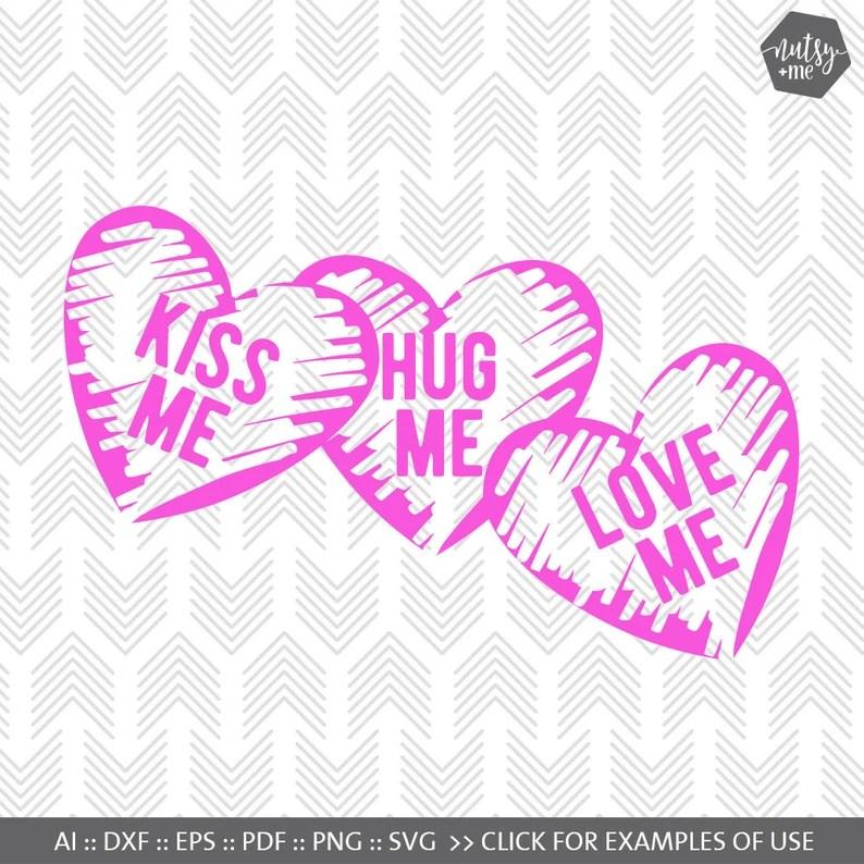 Download Valentines SVG File Candy Hearts Love SVG SVG files for   Etsy