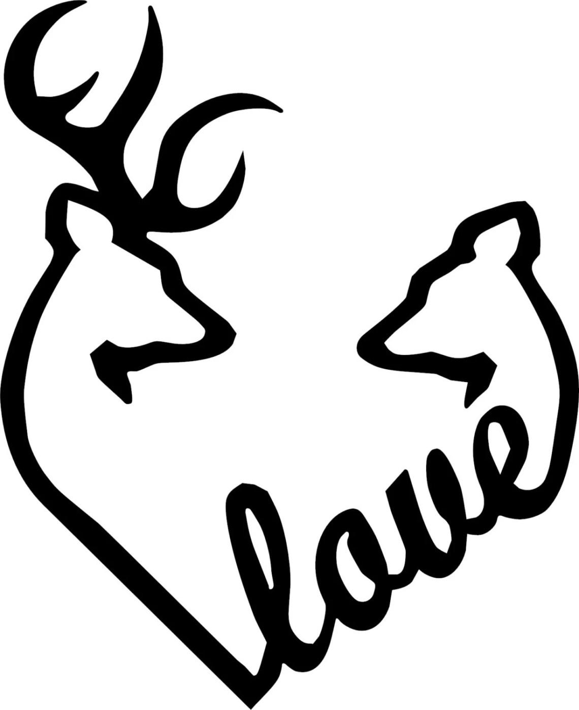 Download Browning Love Heart Deer Buck and Doe vinyl decal | Etsy