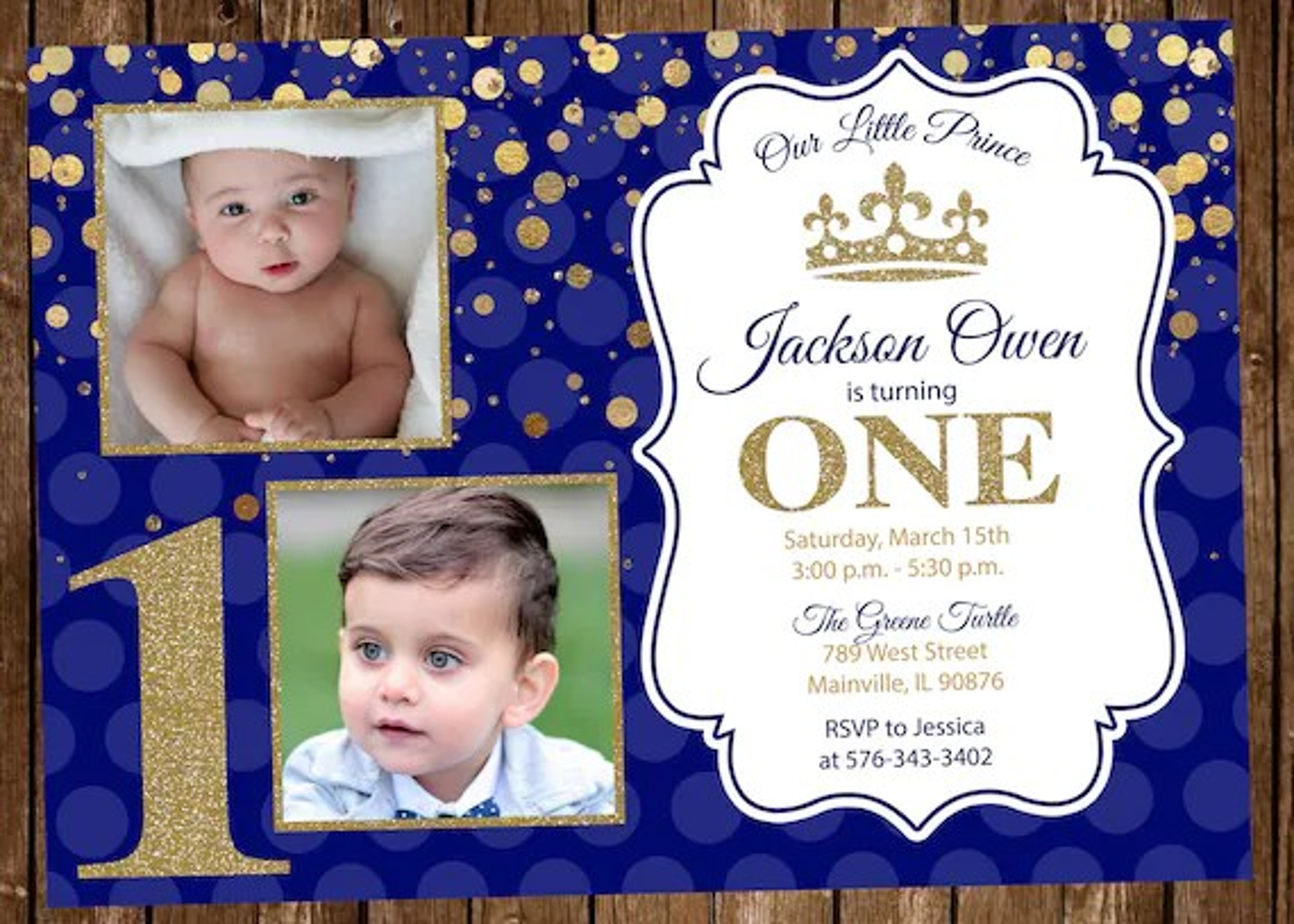 prince invitation one prince first birthday invitation blue and gold little prince invitation birthday royal digital or printed