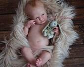 Reborn Babies - Custom Reborn Baby - Realborn®  Logan Awake Full Limbs 19 Inches 4-6 lbs  Custom .Custom Reborn Baby Doll. Vinyl.
