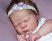 FREE Baby w/ Diamond Package - Custom Reborn Babies - Realborn® Lavender Sleeping 19 inches Full Limbs 6-8 lbs