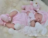 FREE Baby w/ Diamond Package - Custom Reborn Babies - Julie by Adrie Stoete 18 Inches Full limbs 4-5 lb