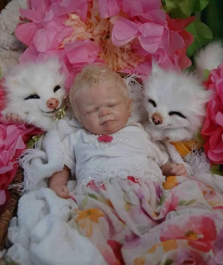 "Reborn Babies - Custom Reborn Baby - Shylynn Fairy by Shawna Clymer 19"" FULL Limbs *Image is NOT my work.* Custom Reborn Baby Doll. Vinyl."