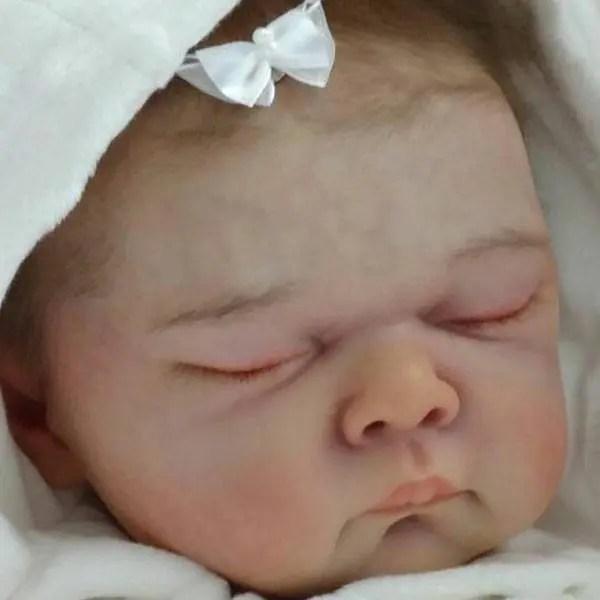 Reborn Babies - Custom Reborn Baby - Rose by Adrie Stoete 3/4 Limbs 18 Inches 3-4 lbsCustom Reborn Baby Doll. Vinyl.