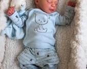 FREE Baby w/ Diamond Package - Custom Reborn Babies - Realborn®Preemie Thomas Asleep 17 inches 3/4 arms & full legs  3-5 lbs