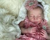 "Custom    Realborn® Sleeping Brittany Full Limbs 20""  4-6 lbs"