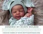 "CuStOm ReBoRn Zendric by Dawn McLeod (16""+Full Limbs)"