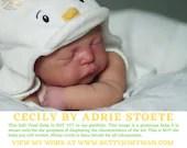 "FREE Bonus Baby!  **Read Item Details** CuStOm ReBoRn BaBy Cecily by Adrie Stoete (19"" Full Limbs)"