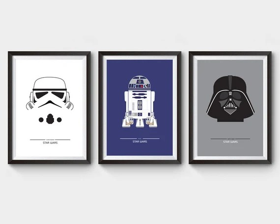 Star Wars Collection of 3 Movie Posters