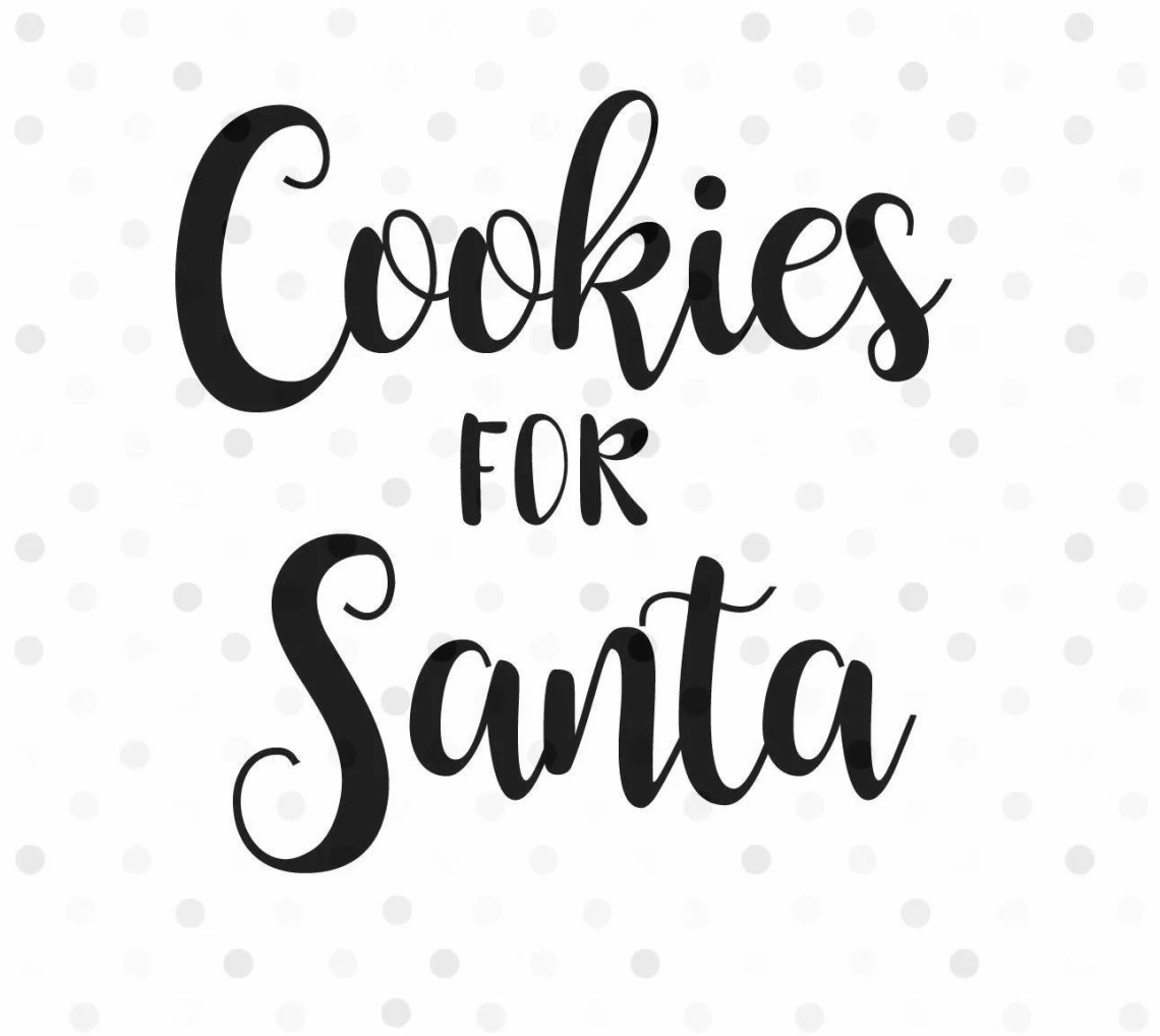 Download Cookies for Santa SVG PNG Instant Download Cricut and | Etsy