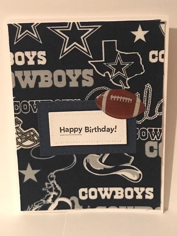 Handmade Birthday Card Dallas Cowboys Football Team Etsy
