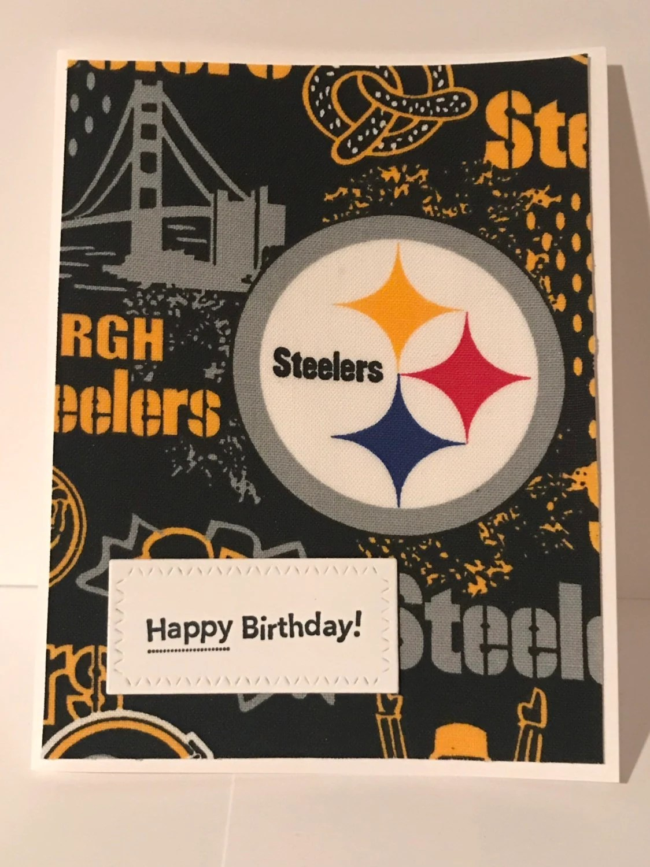 Handmade Birthday Card Pittsburg Steelers Football Team Etsy
