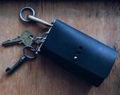 Genuine Leather Key Case / Key Cover / Key Holder (Black)